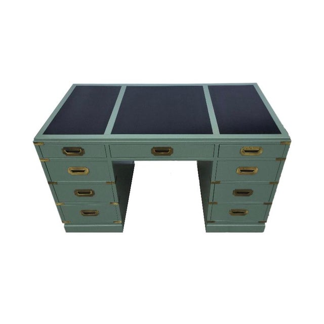 This Vintage Green Champaign Style Desk is perfect for anyone who needs a working space and storage. Would look stunning...