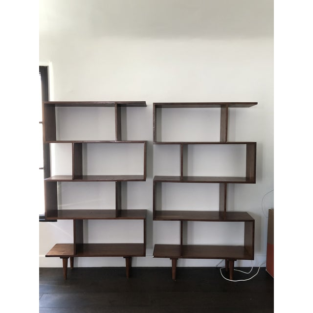 Paul McCobb Mid Century Modern Walnut Bookshelves - A Pair For Sale - Image 4 of 5