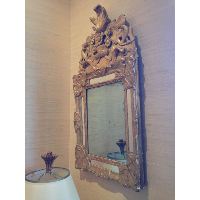 French Regency Gilt Wood Mirror - Image 2 of 3