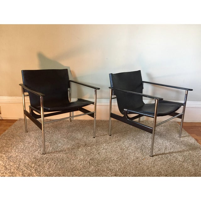 Charles Pollock for Knoll 657 Arm Chairs - A Pair - Image 8 of 11