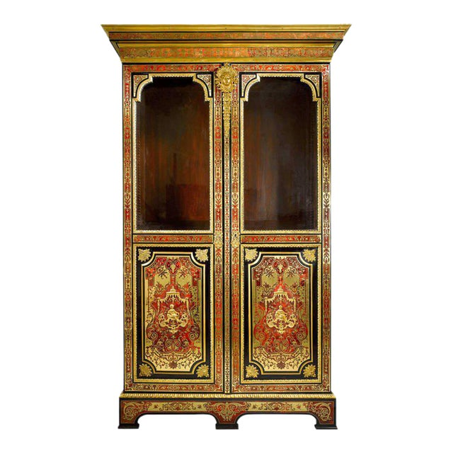 Stamped Boulle Cabinet by Nicolas Sageot For Sale