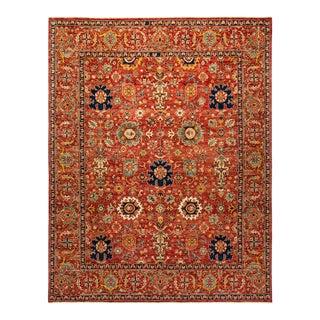 One-Of-A-Kind Oriental Serapi Hand-Knotted Area Rug, Crimson, 8' 2 X 10' 3 For Sale