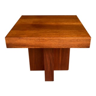 Milo Baughman Walnut Side Table