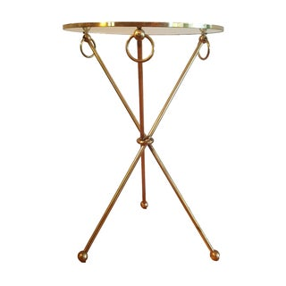 Vintage French Brass Side Table For Sale