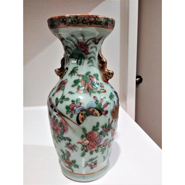 This is a small antique Chinese vase. My parents had in their house when I was growing up.