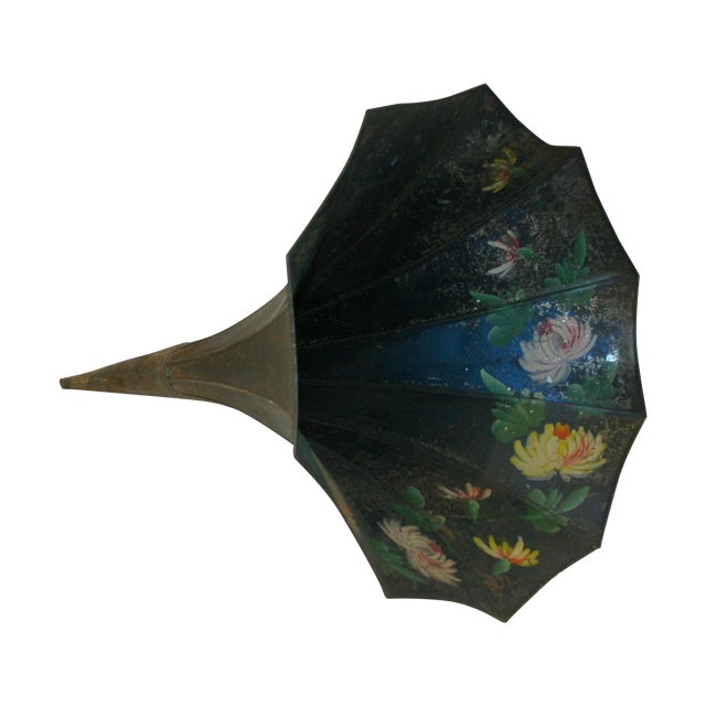 Hand Painted Victrola Speaker Cone - Image 1 of 4