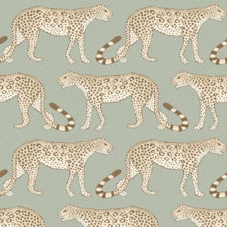 Leopard Walk Classic Style Wallpaper Sample For Sale