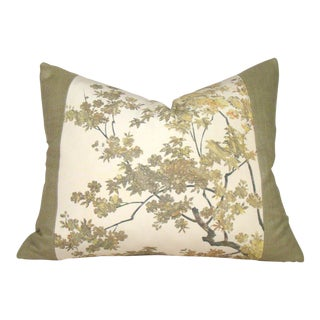 Autumn Leaves Japanese Kimono Pillow Cover For Sale