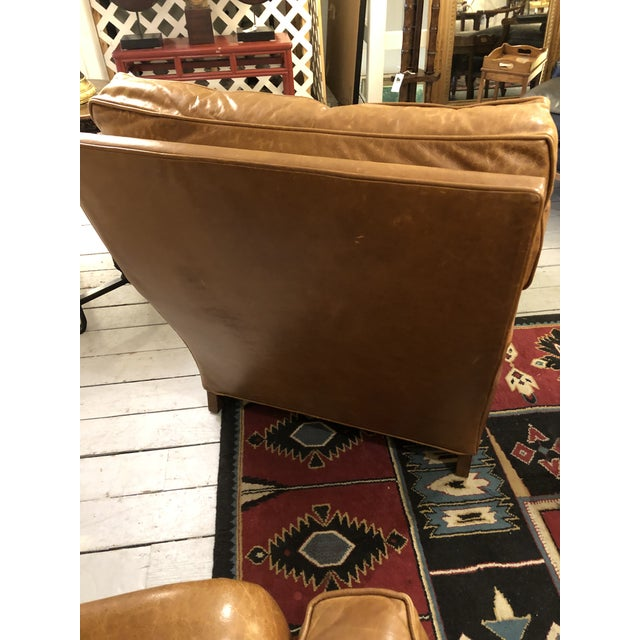Brown Nancy Corzine Club Chairs -A Pair For Sale - Image 8 of 11