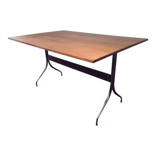 George Nelson Walnut Swag Leg Dining Table/Desk Herman Miller Eames Mid Century Modern For Sale