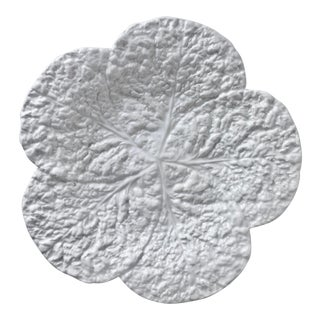 Vintage Italian Faience Cabbage Leaf Dish