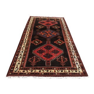 "1940s Vintage Kurdish Hand Weaved Rug - 5'3""x9'10"""