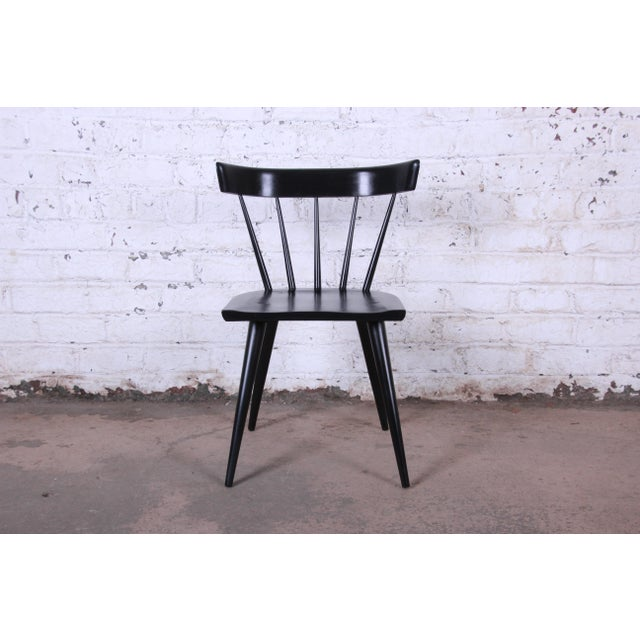 Lacquer Paul McCobb Ebonized Planner Group Dining Chairs - Set of 10 For Sale - Image 7 of 13