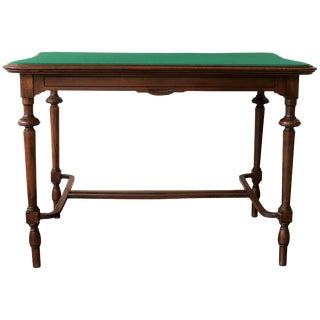 Vintage Victorian Style Walnut Writing Table Desk Game Table For Sale
