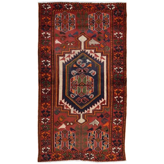 Vintage Persian Luri Rug- 4′1″ × 7′5″ For Sale - Image 13 of 13