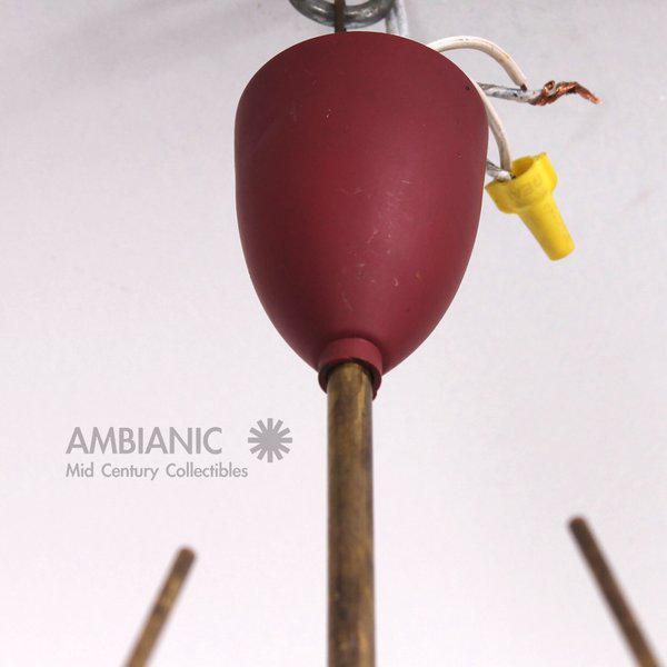 Gold Mid-Century Modern Italian Sputnik Chandelier For Sale - Image 8 of 10