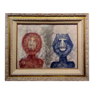 Rufino Tamayo - Dos Caras Two Faces -Original Artist Proof 8/10 -Rare For Sale