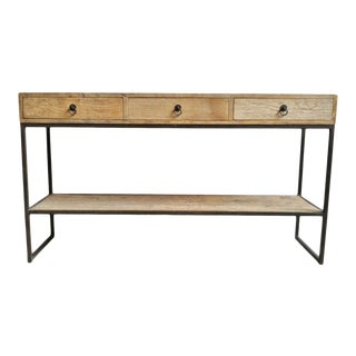 Iron & Elm 3 Drawer Console Table For Sale