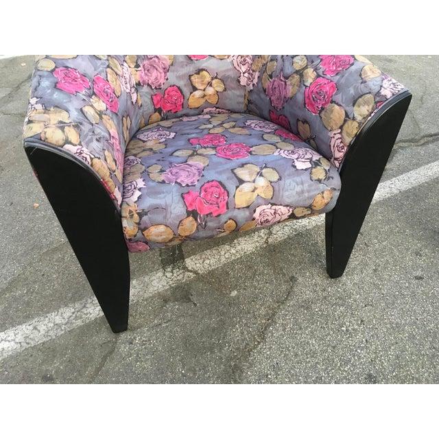Dakota Jackson 1990s Vintage Dakota Jackson Post Modern Club Chairs- A Pair For Sale - Image 4 of 10