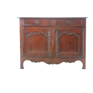 19th Century French Provincial Walnut Buffet For Sale