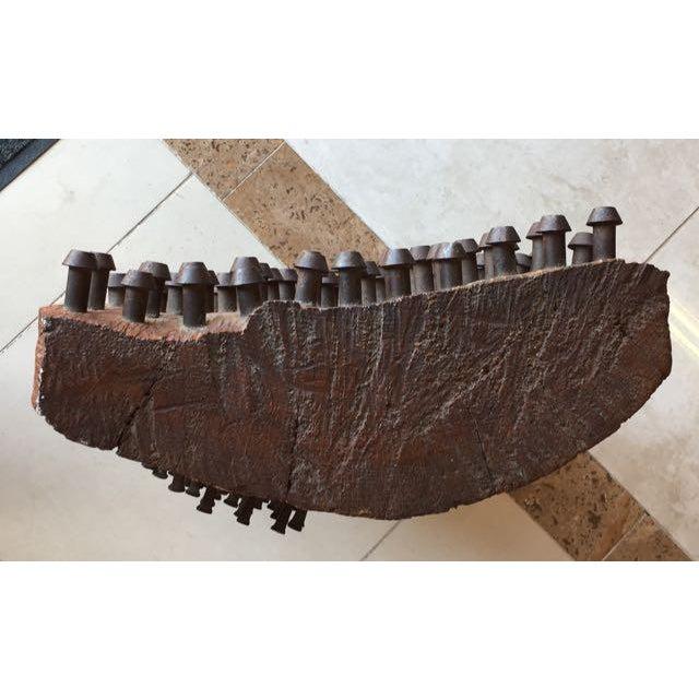 Mid-Century Brutalist Wood Sculpture - Image 7 of 8