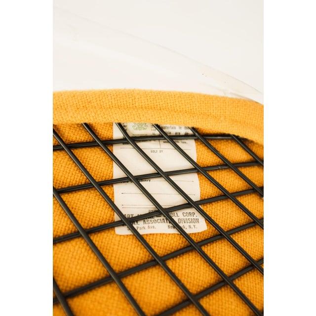 Yellow 1970s Danish Modern for Knoll International Bertoia Large Diamond Chair For Sale - Image 8 of 11