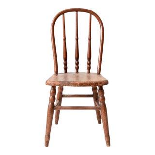 Vintage Kids Spindle Back Chair For Sale