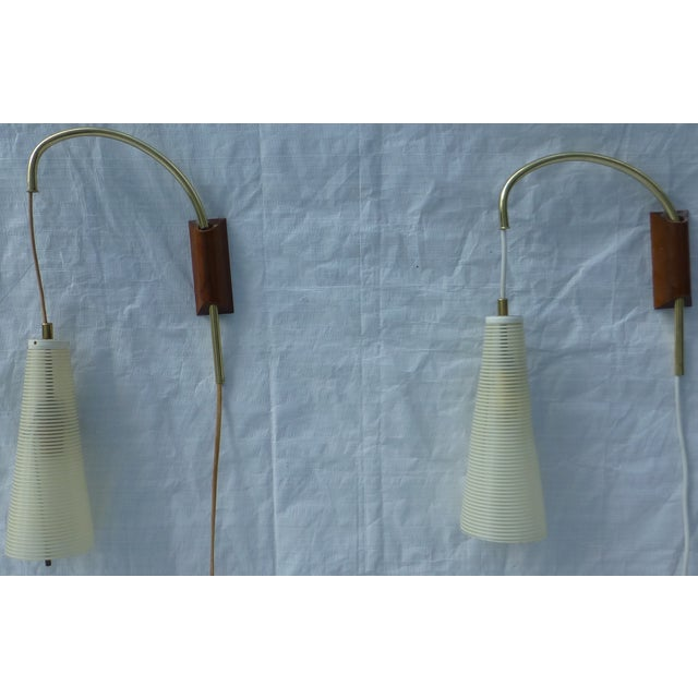Mid-Century Counterweight Wall Sconces - A Pair - Image 2 of 11