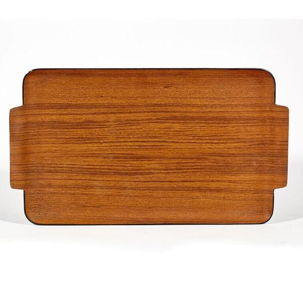 Mid-Century Modern Modern Teak Wood Tray For Sale - Image 3 of 4
