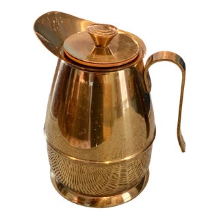 Vintage Brass Coffee Carafe For Sale