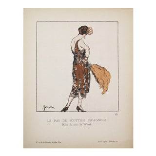 1920 Fashion Art Deco Fashion Plate, Scottish Espagnole For Sale