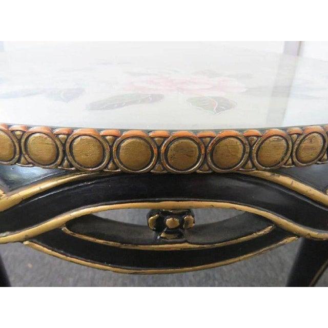 Paint Regency Style Églomisé Coffee Table For Sale - Image 7 of 8