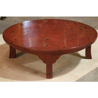 Red Lacquer Round Table Preview