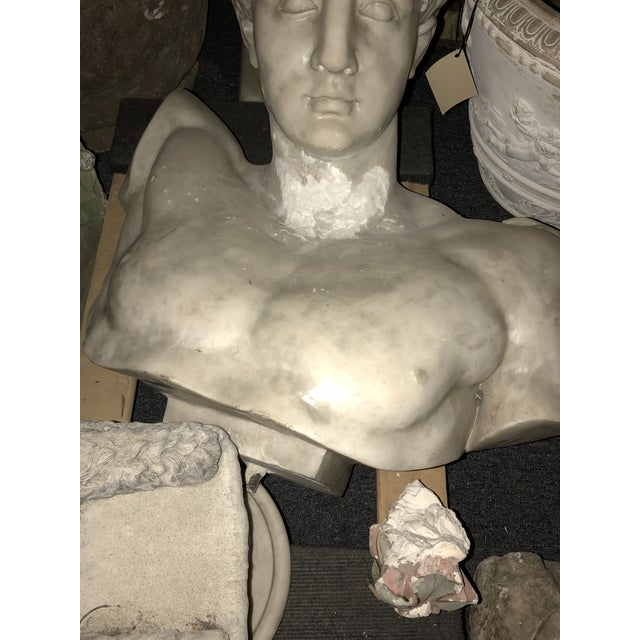 White Large Marble Hermes Bust For Sale - Image 8 of 9