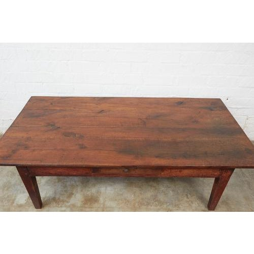 This gorgeous coffee table is made of pine and oak using antique joinery and pegged construction techniques. It has nicely...