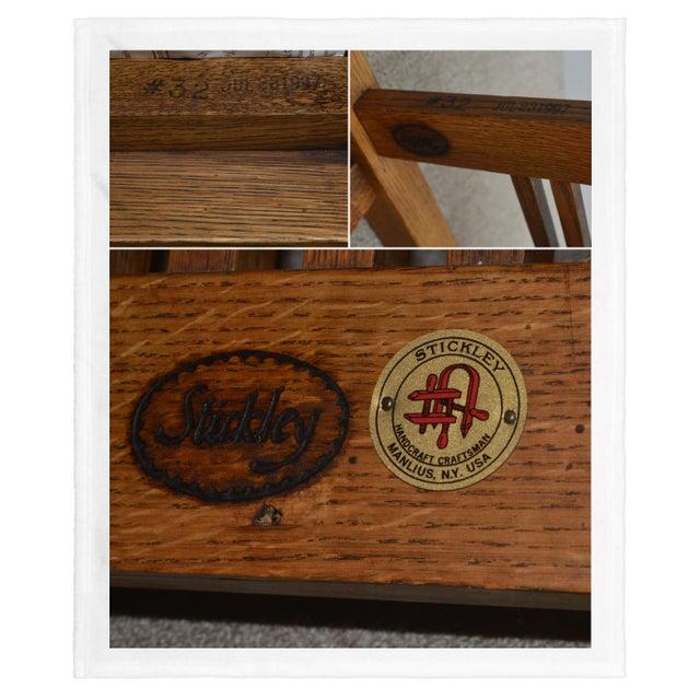 Mission Stickley Oak Morris Chair W/ Ottoman - 2 Pieces For Sale - Image 12 of 13