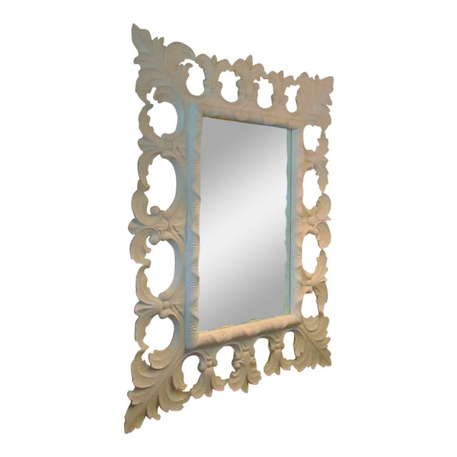 Modern Christopher Guy Elaborately Carved Wood Framed Mirror For Sale
