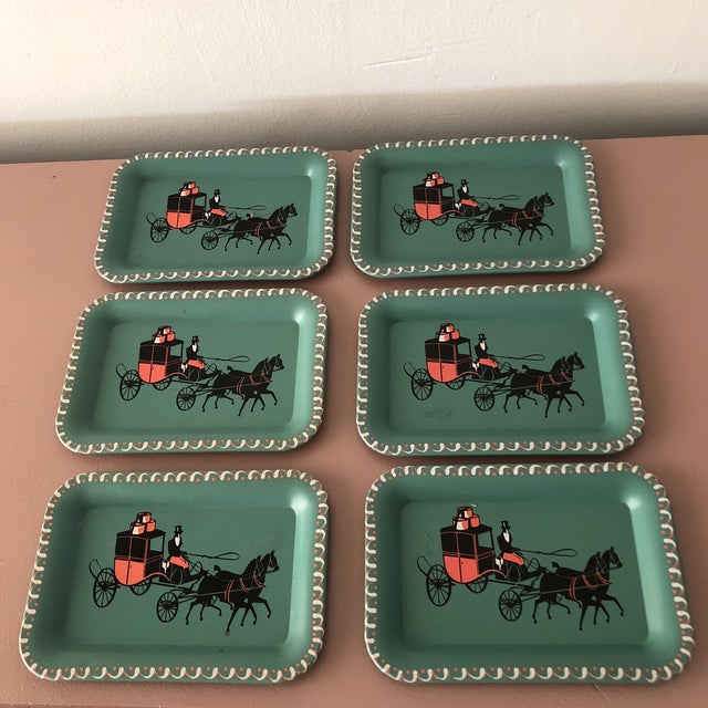 1950s Mid Century Individual Metal Ashtray - Set of 6 For Sale - Image 5 of 5