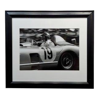 Jesse Alexander 1955 Juan Manuel Fangio at Le Mans - Silver Gelatin Photograph For Sale