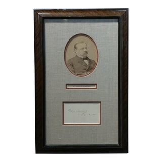 Grover Cleveland -22nd & 24th US President - Original Signature with Photograph-1891