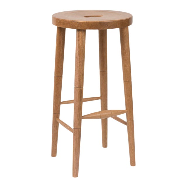 Milkmaid Bar Stool in Natural Oak For Sale