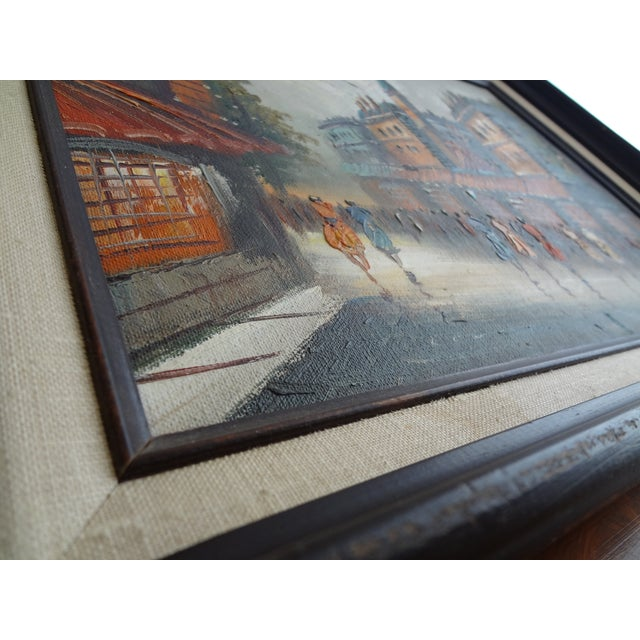 Vintage Impressionist European Street Scene Signed 'Simon' Oil on Canvas - Image 3 of 11