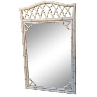 Vintage Thomasville Faux-Bamboo Mirror For Sale