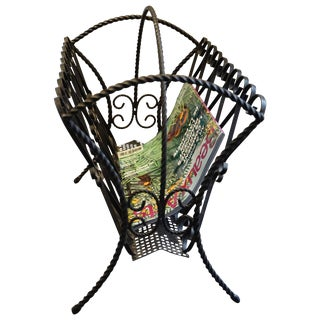Chaty Vallauris, Rare 1960s Magazine Holder For Sale