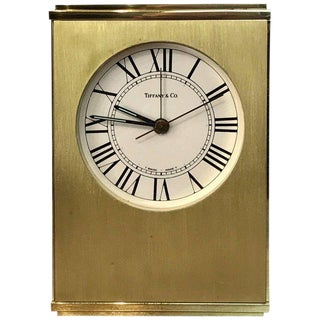 Tiffany & Co. Swiss Movement Table Alarm Clock, With Concealed Chamber For Sale