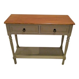 Walnut Farmhouse Console Table For Sale