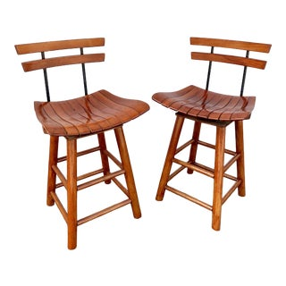 1950s Vintage Arthur Umanoff Style Stools- A Pair For Sale