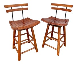 Image of Burnt Umber Low Stools