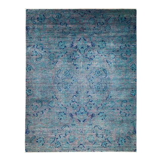 "Suzani Hand Knotted Area Rug - 8' 3"" X 10' 4"" For Sale"