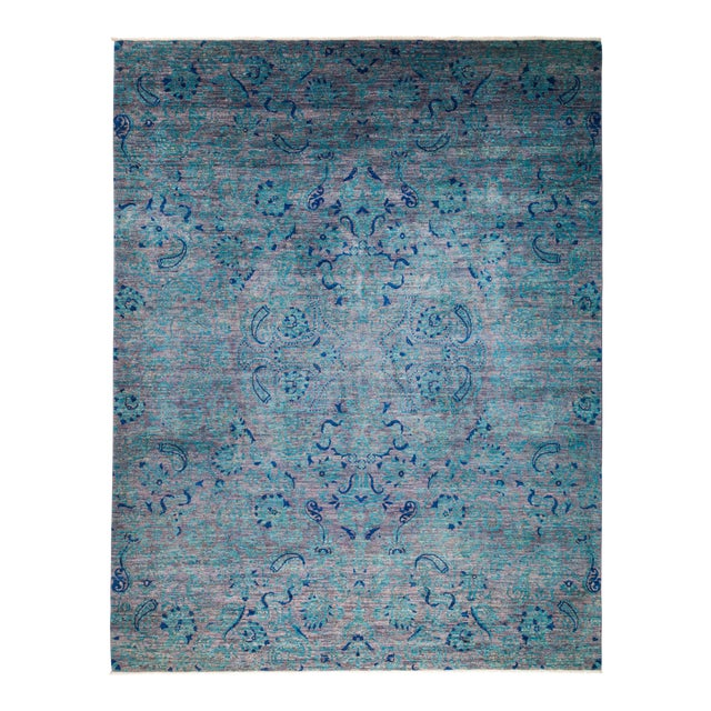 """Suzani Hand Knotted Area Rug - 8' 3"""" X 10' 4"""" For Sale"""